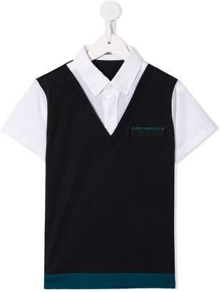 Familiar layered short-sleeved shirt