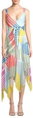 Tanya Taylor Goldie Colorblock Stripe Maxi Dress