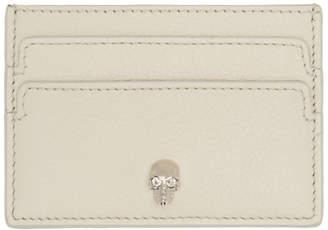 Alexander McQueen Off-White Skull Card Holder