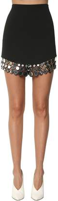 David Koma High Waist Embellished Cady Mini Skirt