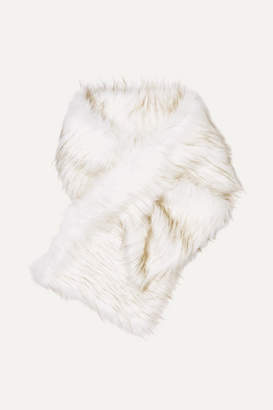 Arabella A PERDIFIATO Faux Fur Wrap - White