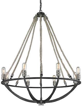 One Kings Lane Rope 8-Light Chandelier - Graphite