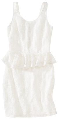 Xhilaration Juniors Lace Peplum Dress - Assorted Colors