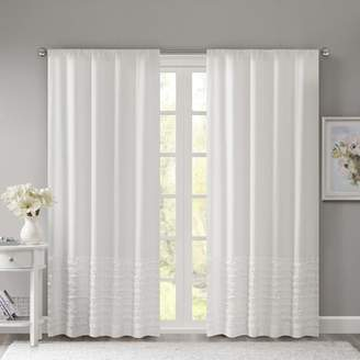 Charlton Home Sanner Solid Semi-Sheer Rod Pocket Single Curtain Panel
