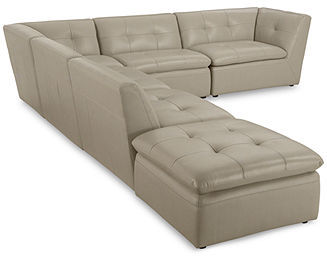 Xavior Leather 6-Piece Modular Sectional