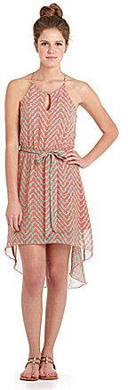 Teeze Me Chevron Hi-Low Dress
