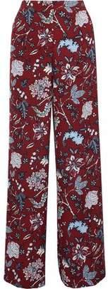 Diane von Furstenberg Floral-print Cady Wide-leg Pants