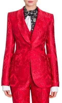 Dolce & Gabbana Jacquard Single-Breasted Jacket