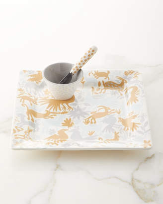 Coton Colors Otomi Square Platter with Small Bowl and Spreader Set