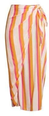 Cool Change coolchange coolchange Women's Nuella Bora Bora Stripe Midi Skirt - Cadmium - Size Large