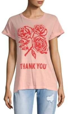 Wildfox Couture Graphic Thank You Cotton Tee