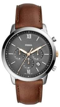 Fossil Chronograph Neutra Light Brown Leather Strap Watch