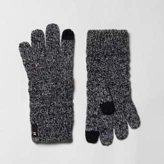 River Island Boys grey waffle knit touch screen gloves