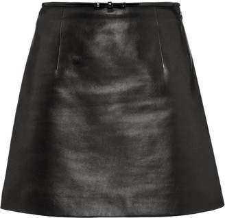 820cf3e378ba A-line Leather Skirt - ShopStyle Australia
