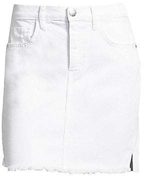 84a55be23c Current/Elliott Women's High-Waist Denim Mini Skirt