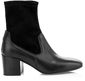 Aquatalia Women's Cammie Stretch-Suede & Leather Sock Boots