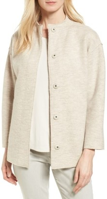 Women's Eileen Fisher Wool Jacket $348 thestylecure.com