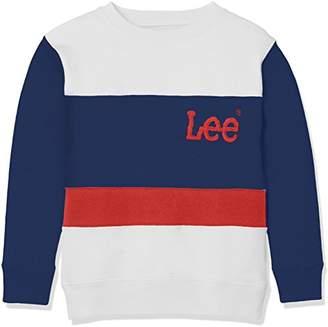 Lee (リー) - [リー]長袖トレーナー ボーイズ(男女兼用) ブルー 日本 100 (日本サイズ100 相当)