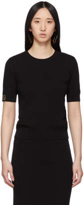 Fendi Black Knit T-Shirt