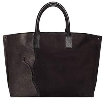 Akris AI Medium Top Handle Pebbled Leather Tote Bag