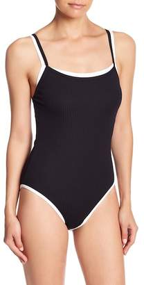 Nautica Double Layer Ribbed One-Piece Swimsuit