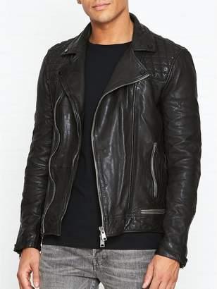AllSaints Conroy Leather Biker Jacket -Ink