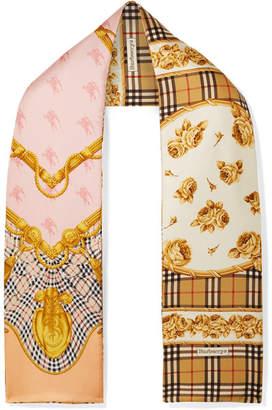 Burberry Printed Silk-twill Scarf - Tan