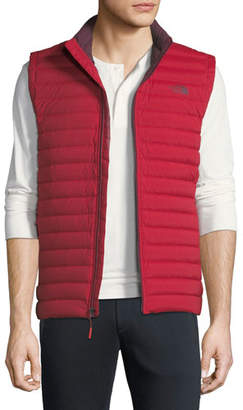 The North Face Men's Stretch Down Zip-Front Vest, Red
