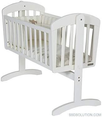 Mamas and Papas Breeze Crib White, Nursery Furniture