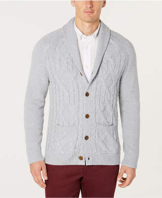 Tasso Elba Men Shawl Collar Cable Knit Cardigan