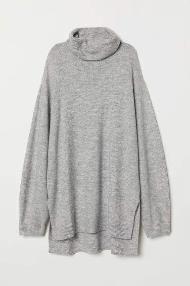 H&M - Knit Turtleneck Sweater - Gray