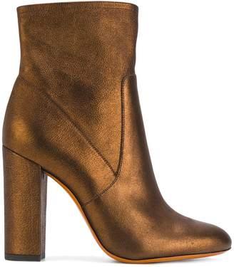 Santoni metallic heeled boots