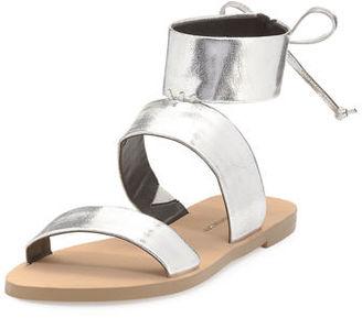 Rebecca Minkoff Emma Strappy Ankle Flat Sandal $110 thestylecure.com