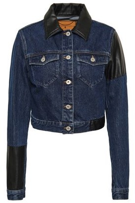 ad536f64a Cropped Faux Leather Jacket - ShopStyle UK