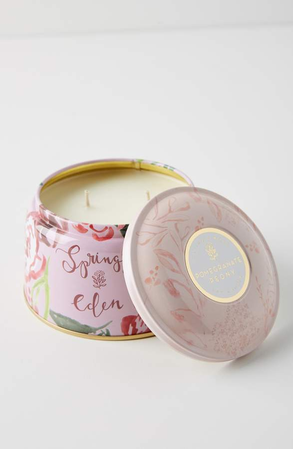 Anthropologie Spring's Eden Tin Candle