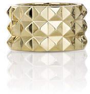 Roberto Coin 18K Yellow Gold Rock & Diamond Ring, Size 6.5