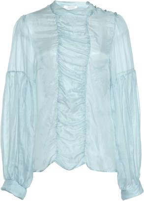 Nevenka Peace Silk And Cotton-Blend Blouse