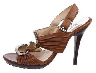 MICHAEL Michael Kors Logo Leather Sandals