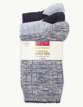 Marks and Spencer 3 Pair Pack Thermal Ankle High Socks