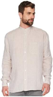 Eleventy Korean Collar Shirt