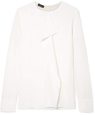 Akris Ruffled Silk-crepe Top - White
