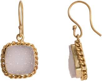 """Mela Artisans White Dangle Earrings """"Bewitching"""""""