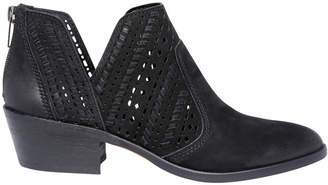 Vince Camuto Prasata Black Tumbled Buff Boot