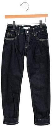 Burberry Girls' Nova Check-Trimmed Skinny Jeans w/ Tags