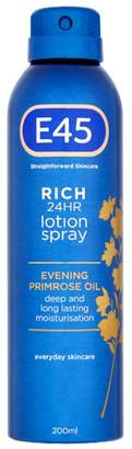 E45 Skincare Rich 24HR Lotion Spray - 200ml