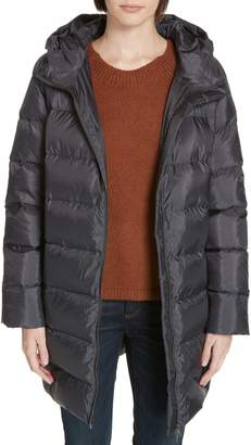 Eileen Fisher Hooded Down Cocoon Coat