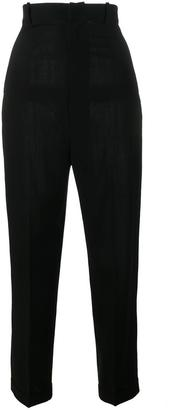 tapered high waist trousers