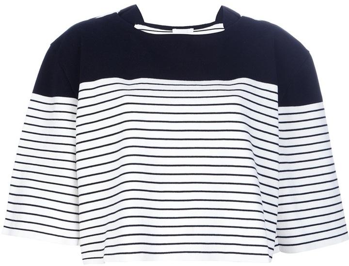 Chloé boxy striped top