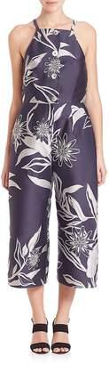 Suno Women's Floral Jacquard Jumpsuit