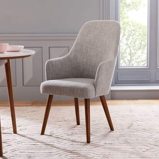 west elm Mid-Century High Back Upholstered Dining Chair